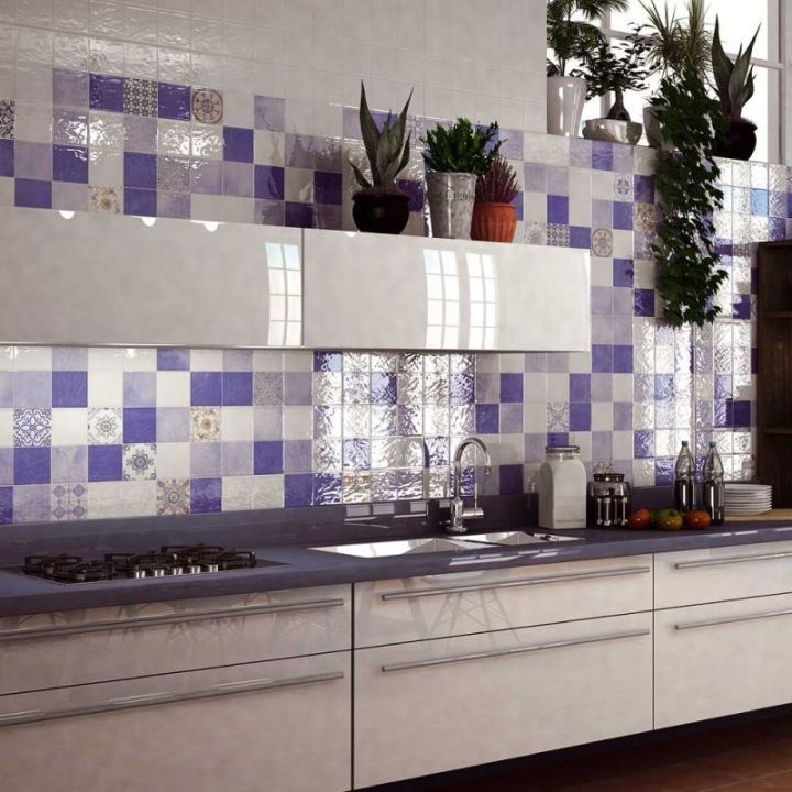 Bathrooms With Blue Tile: 37 Best METALLIC TILED LOOKS Images On Pinterest