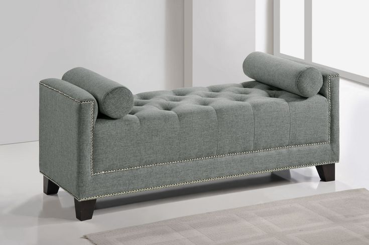 Baxton Studio Hirst Gray Bedroom Bench | Affordable Modern ...