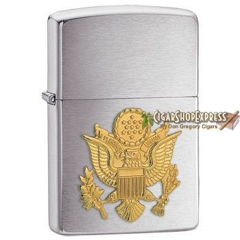 New Online Cigar Deal: United States Army Emblem – $27.08 added to our Online Cigar Shop https://cigarshopexpress.com/online-cigar-shop/lighters/lighters-zippo-lighters/united-states-army-emblem/ Zippo United States Army Emblem is a beautiful tribute to our troops. A raised gold-toned emblem shines against Zippo's simple and classy Brushed Chrome finish. This ...
