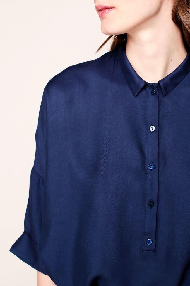 American Vintage Vestido camisa - lix119 - Azul / Marina de guerra - 310865 - MSR Monshowroom.com