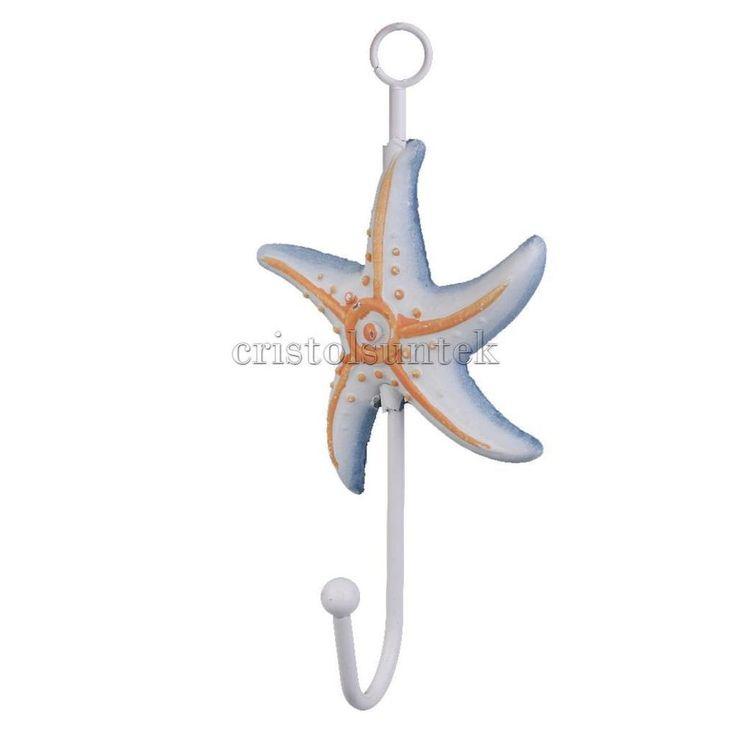 Nautical Starfish Key Coat Bag Bathroom Towel Hook Holder Door Wall Hanger | Home & Garden, Household Supplies & Cleaning, Home Organization | eBay!