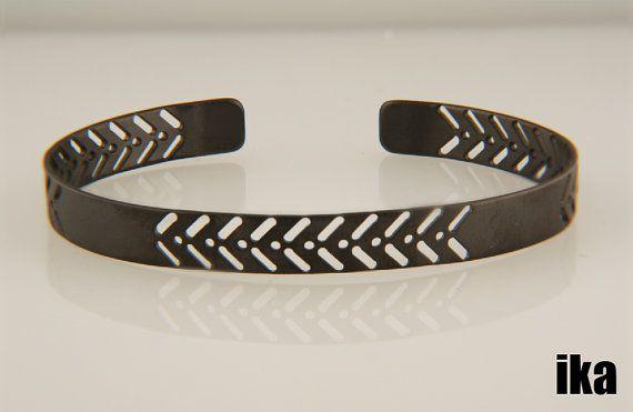 Maori Bracelet // Brass // Black Platinum Plated