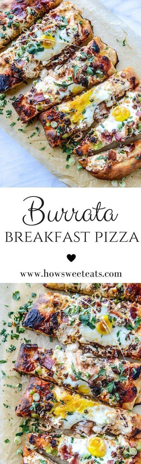 Burrata Breakfast Pizza: