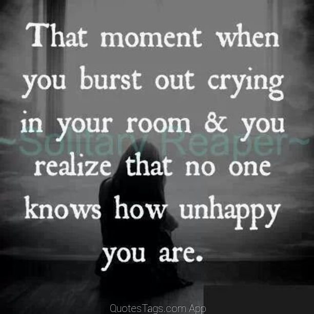 Quotes About Crying: 1,000,000 Quotes App For Instagram /// Sadness Unhappy