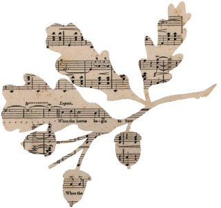 Sheet music leaves & acorns ~ so simple ~ so pretty.