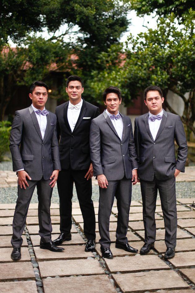 groom and groomsmen looking sharp