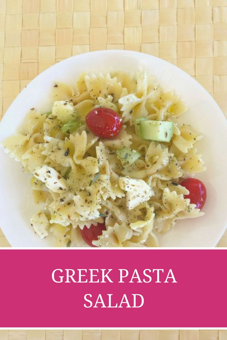 Greek Pasta Salad: A super flavorful, colorful, and easy Greek pasta salad made with healthy, simple ingredients: creamy feta cheese, juicy tomatoes, crisp cucumber, crunchy green bell pepper, red onion and salty Kalamata olives. Perfect for picnics, barbecues, or outdoor parties! - Ioanna's Notebook
