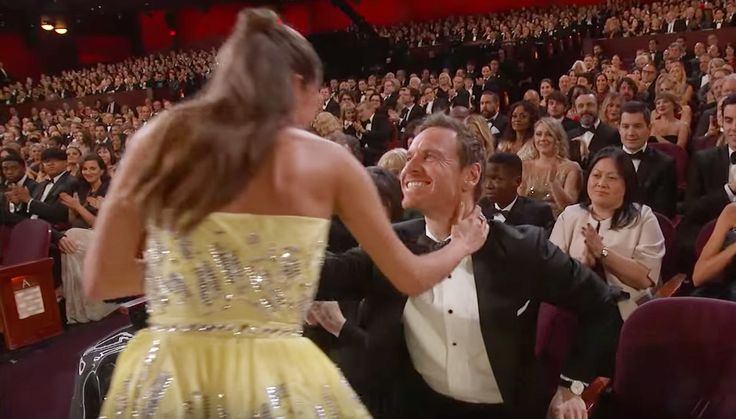 7 Times Alicia Vikander and Michael Fassbender Were the Cutest Couple Ever - When They Kiss on Live TV (February 2016) from InStyle.com