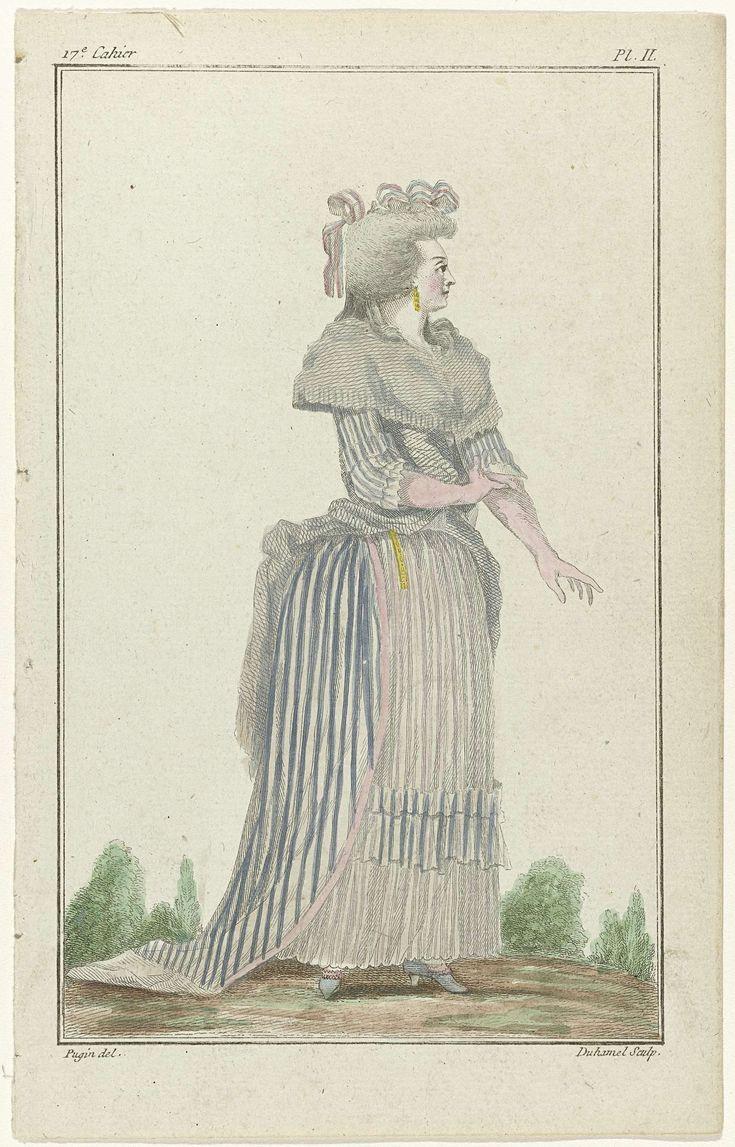 Cabinet des Modes ou les modes nouvelles, 15 juillet 1786, pl. II, A.B. Duhamel, Buisson, 1786