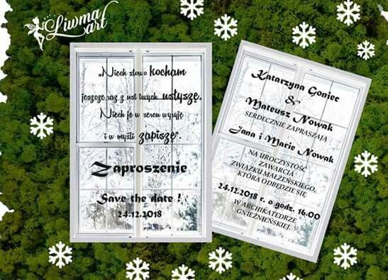 #invitation#winter#wedding#weddingstyle#weddingcard#zaproszenia_ślubne#zima#biel#czerń#blac_and_white  👰👫 www.liwmaart.pl