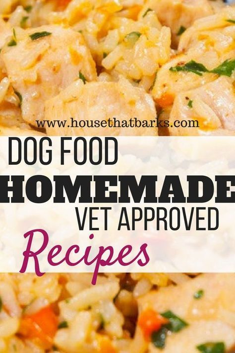 Homemade dog food recipes that are vet approved! #dogs #dogfood