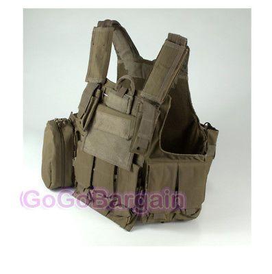 SWAT Tactical Assault CQB CIRAS AEG Vest Molle pouch Coyote Brown Tan airsoft