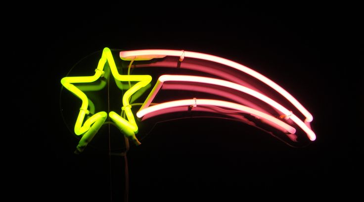 Neon Shooting Star Neon Neon Signs Neon Quotes