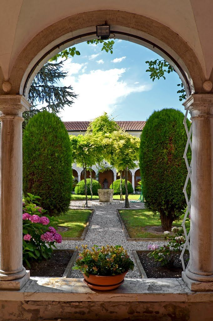 Monastery gardens at San Lazzaro degli Armeni, Veneto, Italy   by Venetico