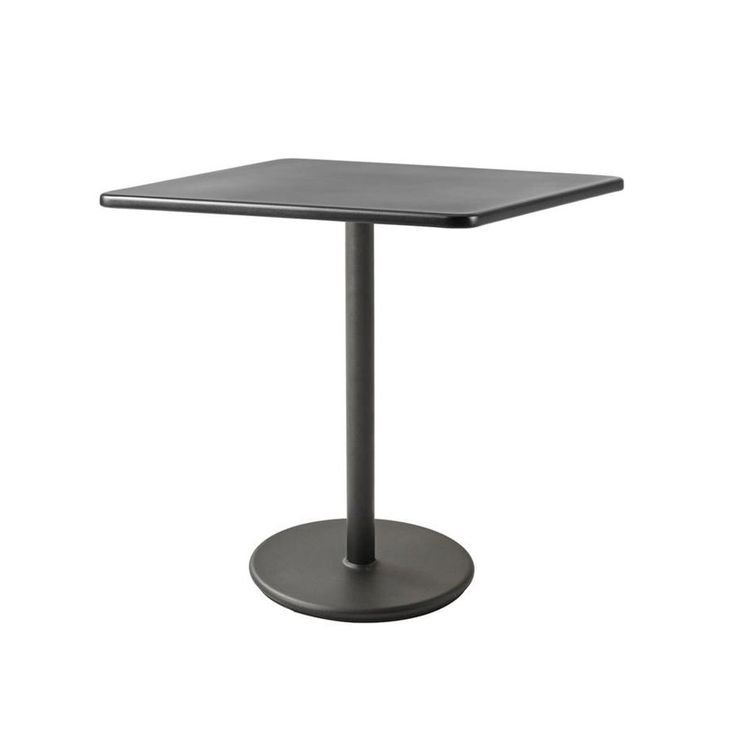 Cane Line Go Coffee Table Aluminium White Table Top Dia 110 Cm