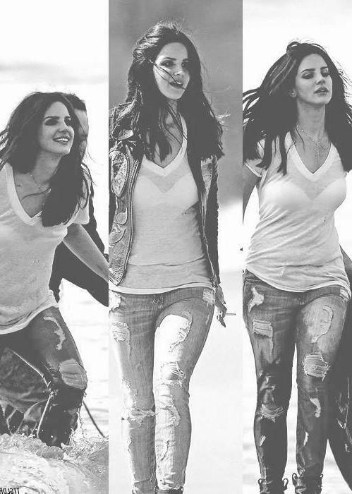 Lana Del Rey on set of West Coast music video #LDR