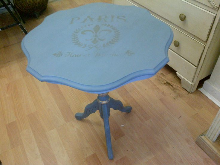 Paula, Of Deja Vu, Painted This Little Side Table In Code Blue [B