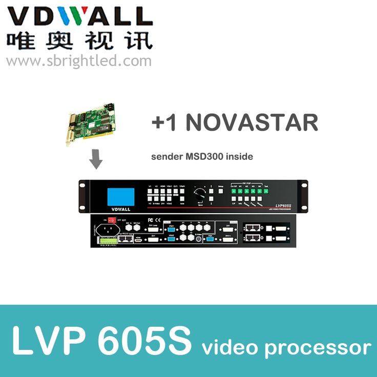 840.00$  Buy now - http://alidih.worldwells.pw/go.php?t=32761752206 - vdwall lvp605S+1 pc novastar sender msd300 video processor scaler PRICEled video wall controller transmitting