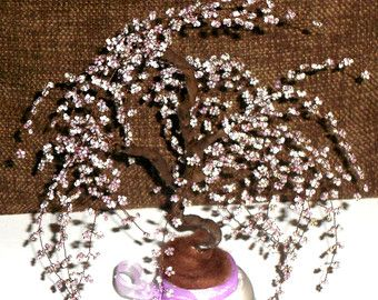 Artificial con cuentas escultura de árbol primavera