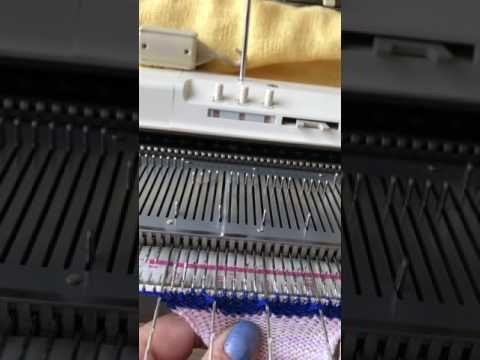 Вязание резинок,и переход к полному и разборному репсу. - YouTube