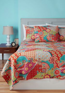 Pattern In for the Night Quilt Set in Twin, #ModCloth in twin, full, queen, king