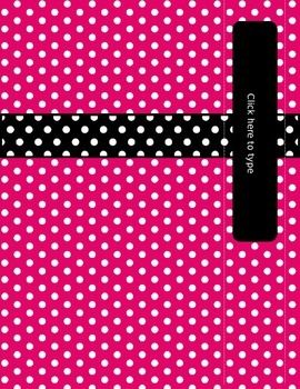 FREE!! This set of binder covers and spines has polka-dots on bright pink and black