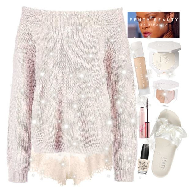 """""""Cozy with FentyBeauty by RiRi"""" by faanciella on Polyvore featuring Puma and OPI"""