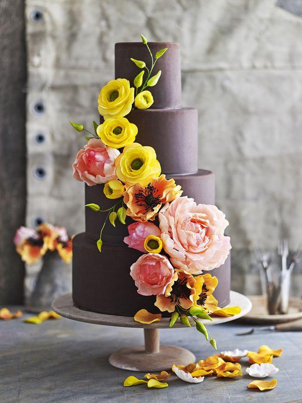 james moffatt photography flower cake #weddings #cake