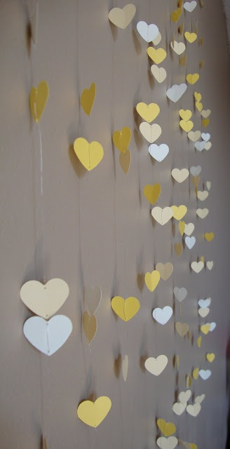DIY Hanging Paper Heart Backdrop