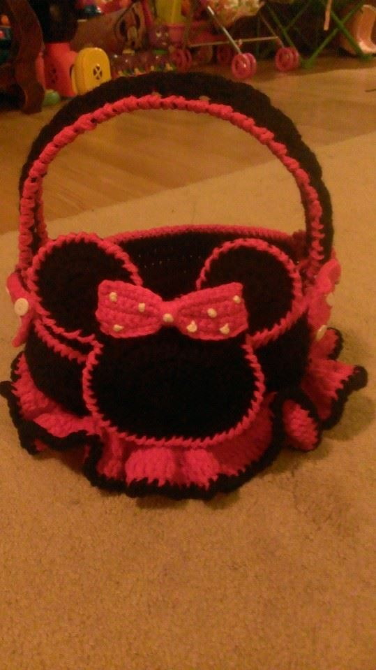Crochet Minnie Mouse Easter Basket | My Crochet for Sale ...