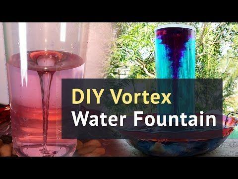 HOMEMADE Tornado   How to make a Vortex Water Fountain - YouTube