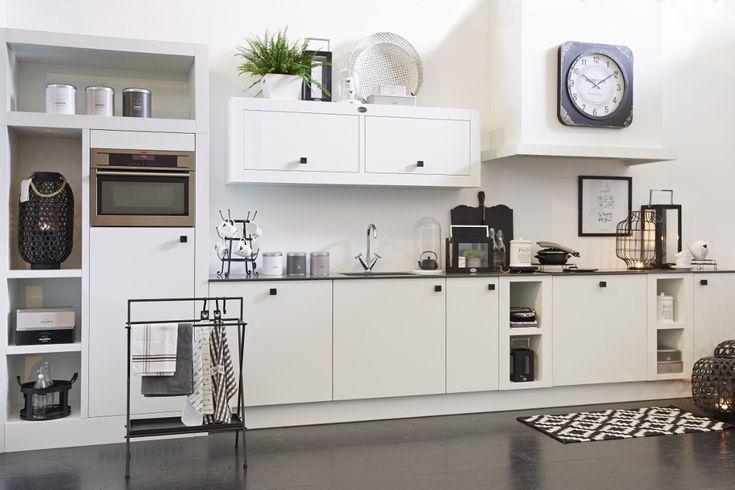 ... Natural wit houten keuken - voor keuken ideeën  UW-keuken.nl