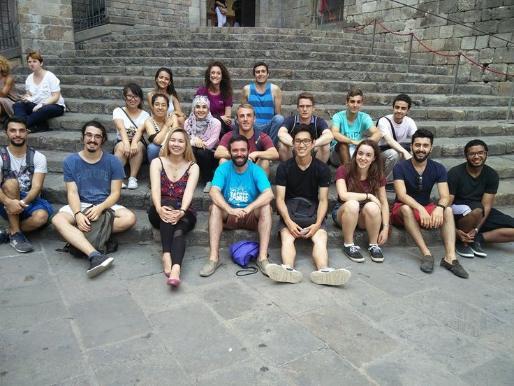 Barcelona - Spain: Group picture of the IAESTE interns in the Gothic quarter of Barcelona. Konstantinos was one of them and he surely enjoyed his time in the city :)