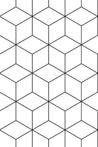 Wallpaper Hexagonal Black Texture Surface Pattern Wallpaper