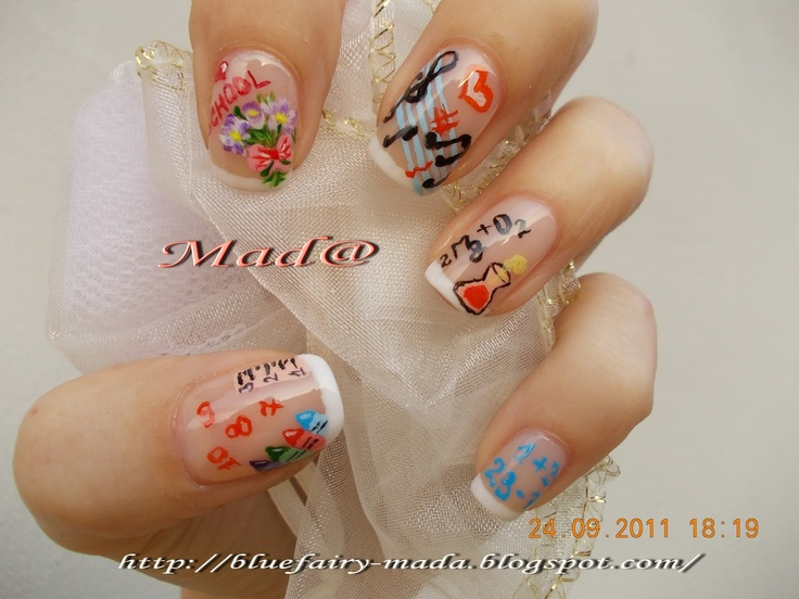 Nail Art: Back to school nails :D ~ Life, passion and beauty