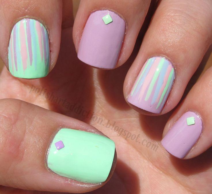23 Best Pastel Color Nails Images On Pinterest