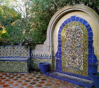 Spanish tile | Southwestern Décor - Add a few ristras, a couple examples of Mexican ...
