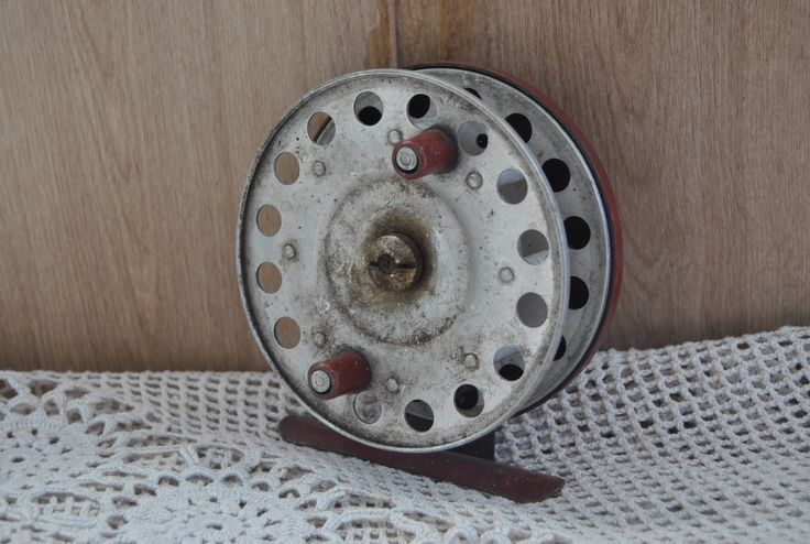 Vintage fishing reel inertial SCR-100. Vintage. Soviet Fishing reel. Made in USSR. by VintageParsel on Etsy