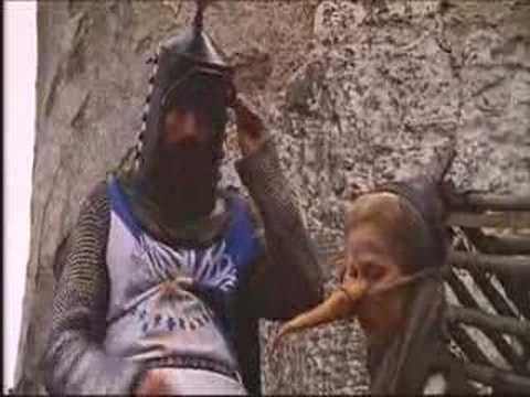 Show this with The Crucible. Clip from Monty Python and the Holy Grail where they put the witch on trial. I mean, everyone knows that witches burn because they're made of wood!!!!