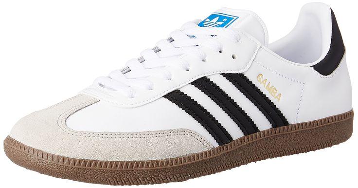 adidas Samba - Zapatillas de deporte para hombre, color blanco (white/black 1/gum), talla 44 2/3
