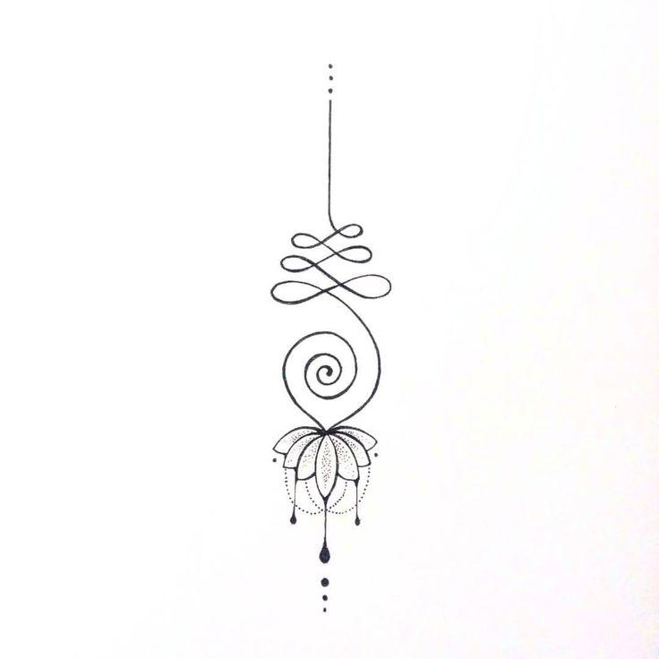 U N A L O M E #unalometattoo #unalome #unalomelotus #lotus