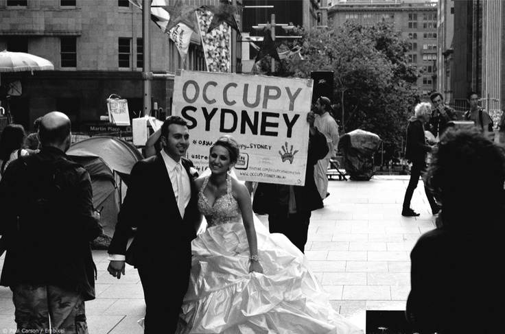 Sydney couple at Martin Place