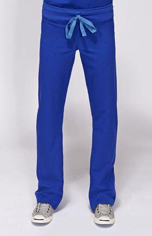 Womens Livingston Basic Scrub Pants-Deep Royal Blue. Scrubs with a yoga waistband!!