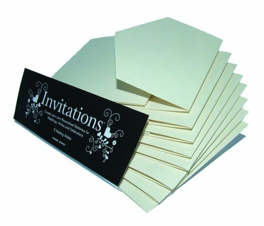 Paper State Invitations Wallets Card - Champagne (Pack of 8)
