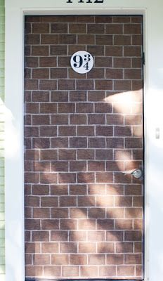 Mags you have to do this to the door! Harry Potter Birthday Party Ideas.