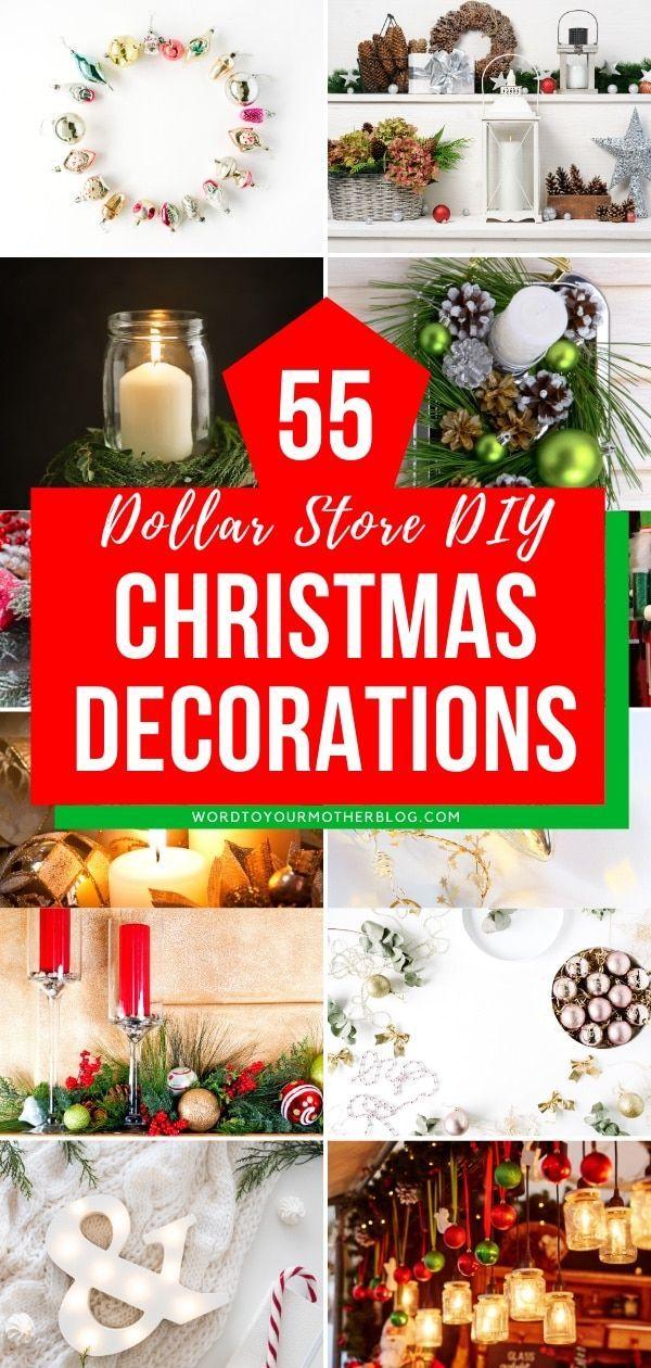 55 Diy Dollar Store Christmas Decorations Diy Tutorials Videos Christmas Diy Tutorials Dollar Store Christmas Decorations Dollar Store Christmas Diy
