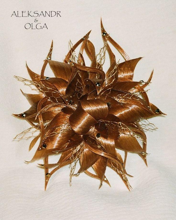 Украшение - ПУЧОК - постиж, золотисто-медный (ИЗ натуральных ВОЛОС) http://www.livemaster.ru/hair-jewellery http://www.aleksandr-and-olga.ru/