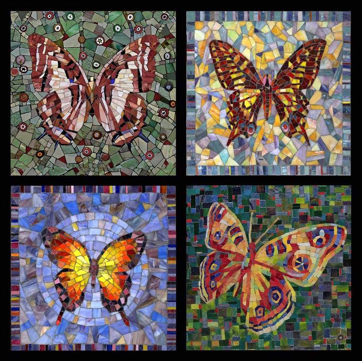 Мозаика Бабочки Incredibly beautiful mosaics on this site. More Pins Like This At FOSTERGINGER @ Pinterest