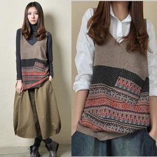 Вязанные свитера для женщин в этническом стиле
