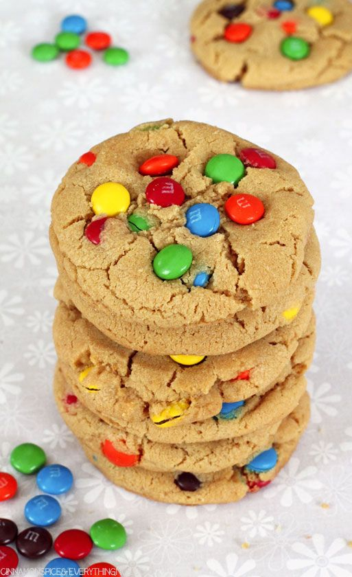 Big Soft Peanut Butter M & M Cookies